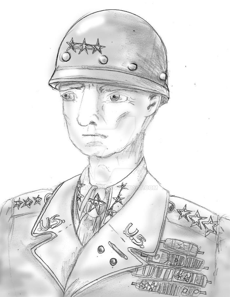 General George S Patton by Taiya001