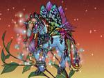 Princess Flutterbug Rainbow Dash by Taiya001