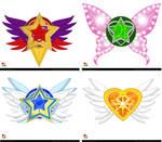 EMCCV Inner Senshi Brooch Ideas by Taiya001