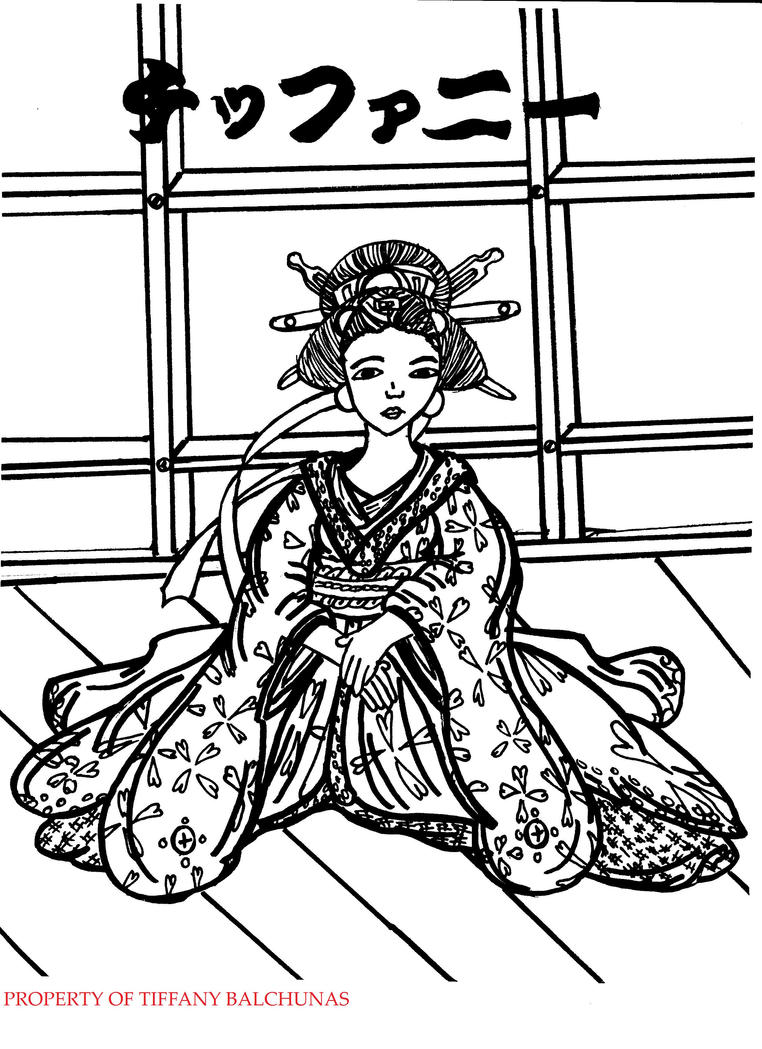 japanese art coloring pages - photo#17