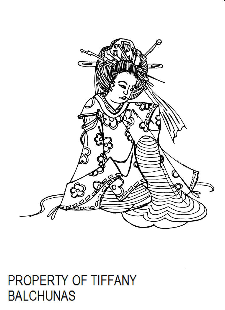 japanese art coloring pages - photo#26