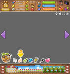 Interface for flash game 'Beloved Pets'