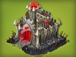 Dark Knight Castle by Pykodelbi