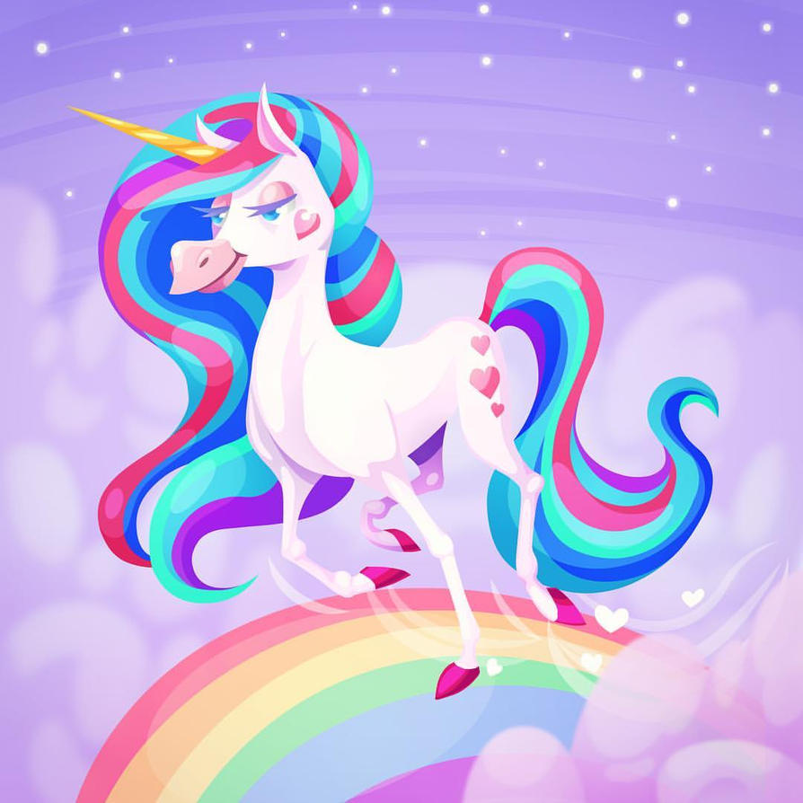 Rainbow Unicorn by Pykodelbi