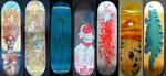 Skateboard Decks, 2010 by azraelengel