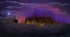 The Traveler - The City by azraelengel