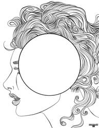 Solar System Girl Coloring Book Page