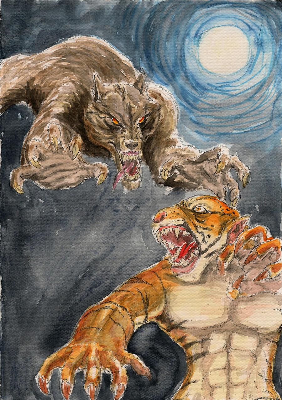 Werewolf vs weretiger - photo#1