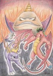 Spyro and Jake Long in RIPTO'S REVENGE by SoulEaterSaku90
