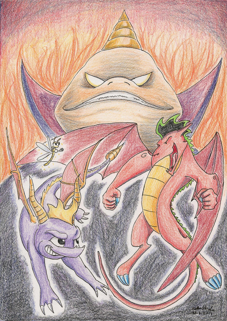 Spyro and Jake Long in RIPTO'S REVENGE by SoulEaterSaku90