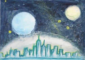 Space City by SoulEaterSaku90
