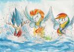 Race through the lake