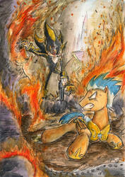 Flash Sentry vs. Shadow Android by SoulEaterSaku90