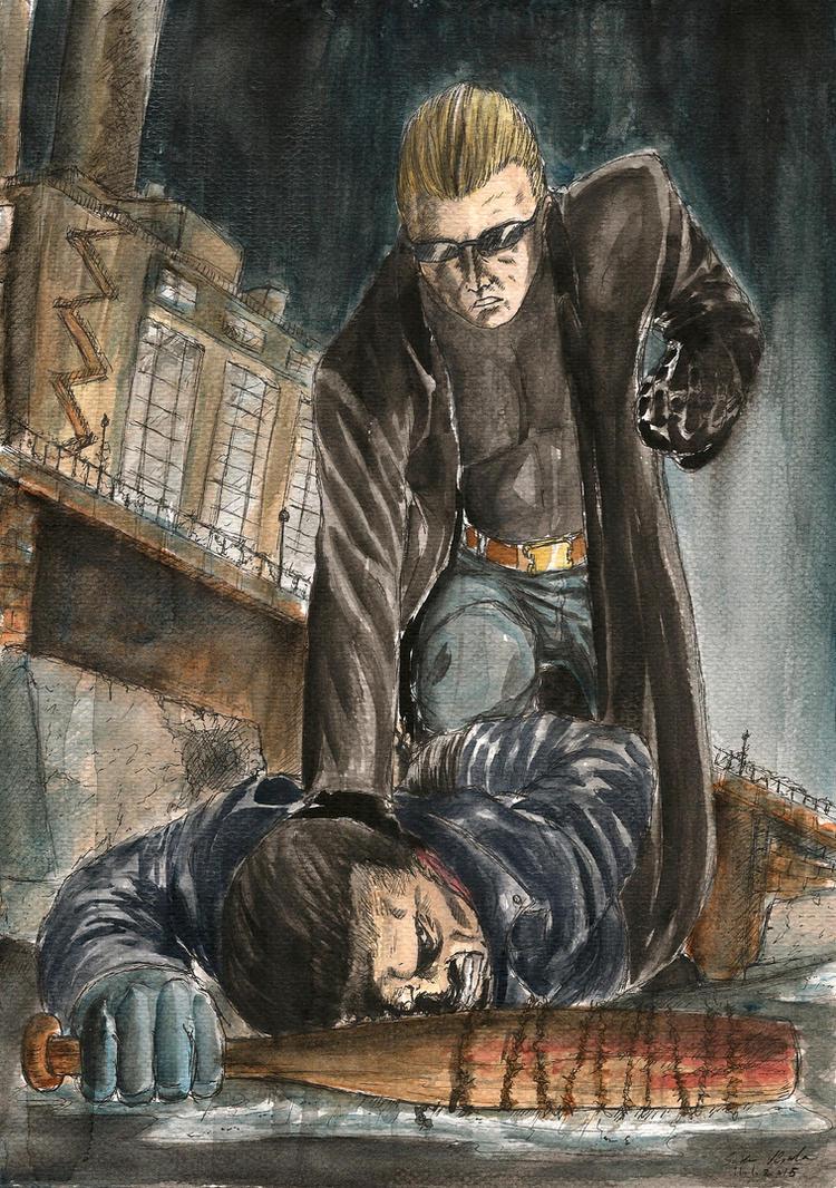 Negan vs. Wesker by SoulEaterSaku90