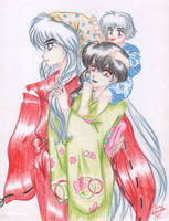 Inu and family by IslaAntonello