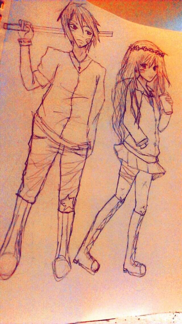 Kyrin and mel by RawrOtakuKid
