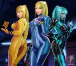 Zero Suit Samuses!