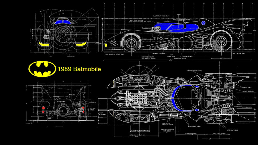 Batmobile blueprint by kharec84 on deviantart batmobile blueprint by kharec84 malvernweather Gallery