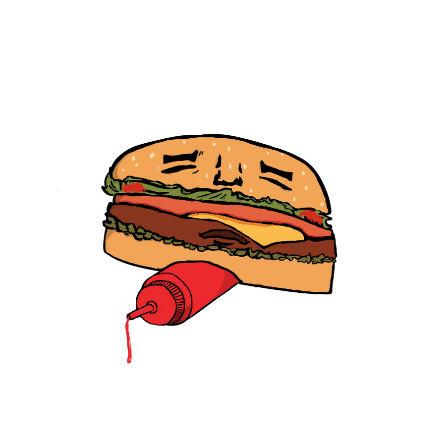 Weird Burger by MuffinCannibalArt