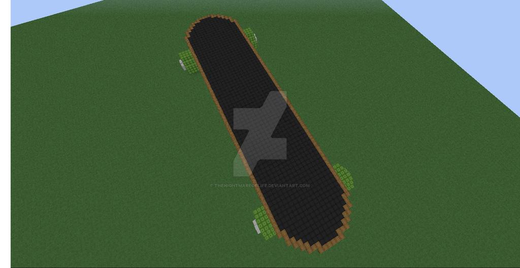 Minecraft Skateboard 3 By Thenightmareoflife On Deviantart