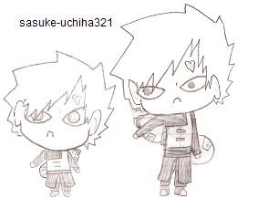 Chibi and Non-Chibi Gaara by Sasuke-Uchiha321