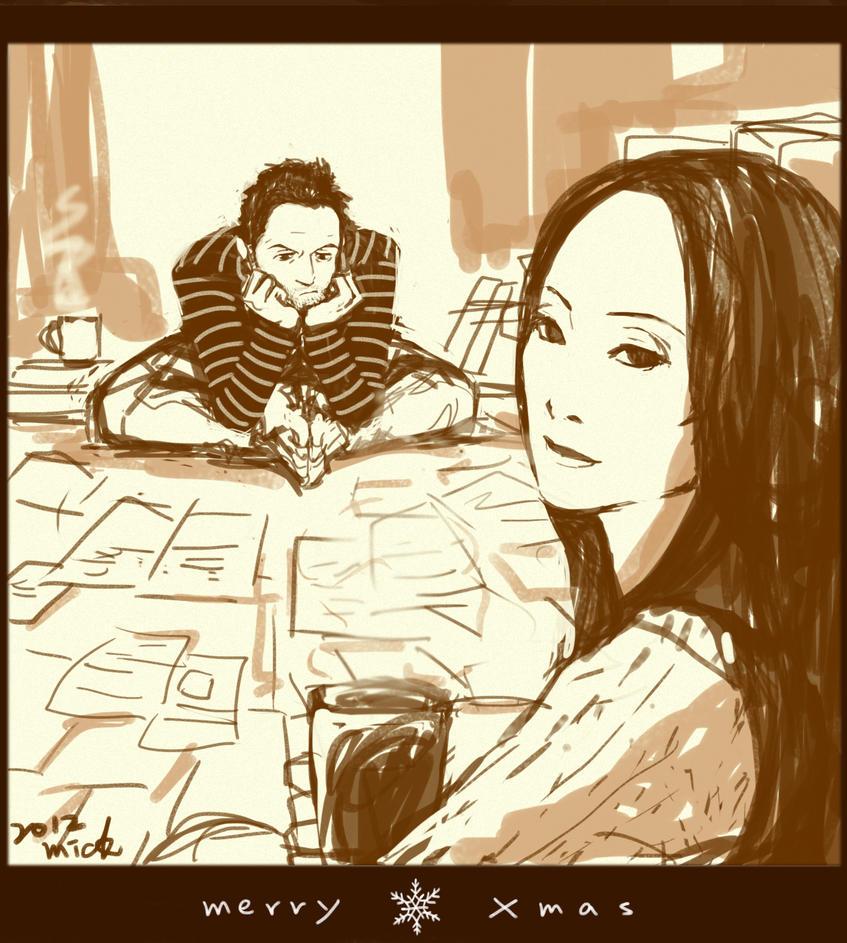 Elementary: Merry Xmas (Sherlock + Joan) by mick347