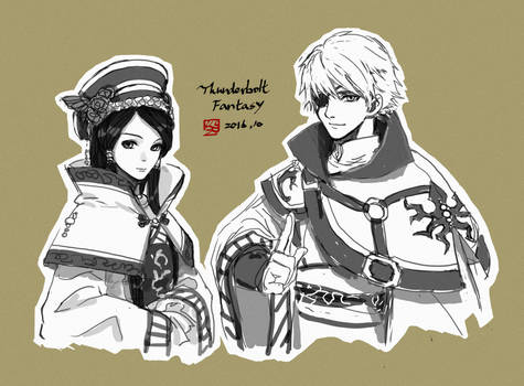 Thunderbolt Fantasy: Seal Guardian couple