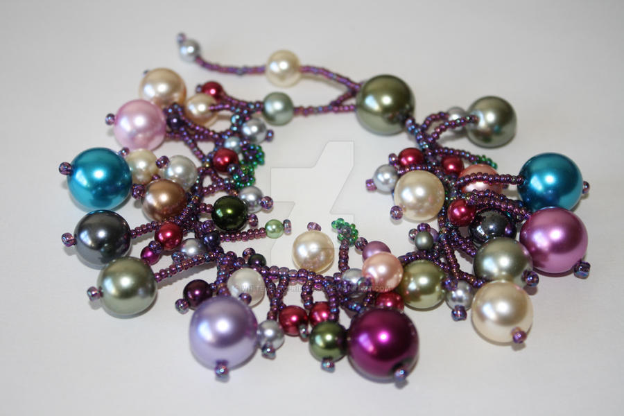 Glass Pearl and Seed Bead Bracelet
