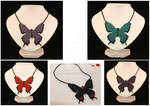 Commission Butterfly Necklaces