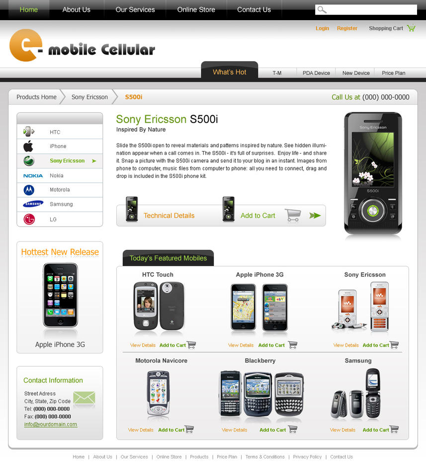 Mobile Store Template By Webdeviant On Deviantart