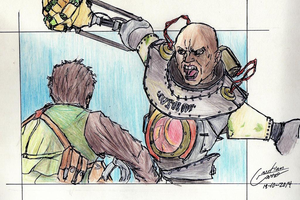 Booker vs Handyman-Bioshock Infinite by CristianGarro
