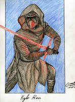 Kylo Ren-The Force Awakens by CristianGarro
