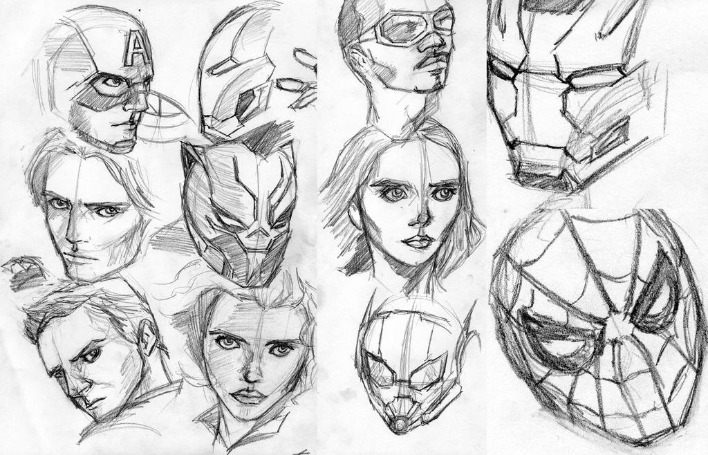 Civil war pencil sketches by cristiangarro