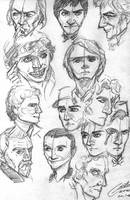 All the Doctor pencil sketches by CristianGarro