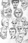 All the Doctor pencil sketches