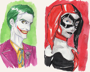DC Couples- Joker and Harley Quinn by CristianGarro