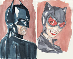 DC Couples- Batman and Catwoman by CristianGarro