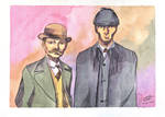 Holmes and Watson by CristianGarro