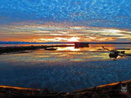 As Above So Below Sunset by wolfwings1