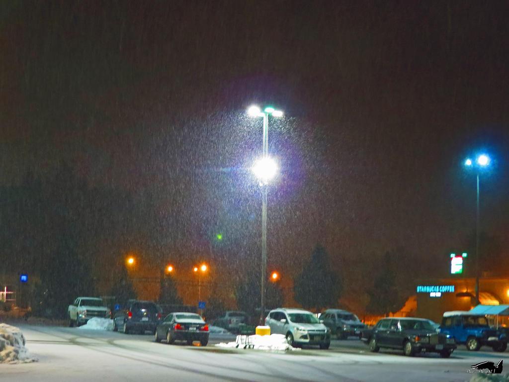 Snowstorm In Parking Lot by wolfwings1