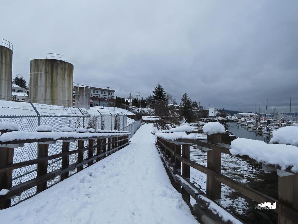 Snowy Bridge Path by wolfwings1