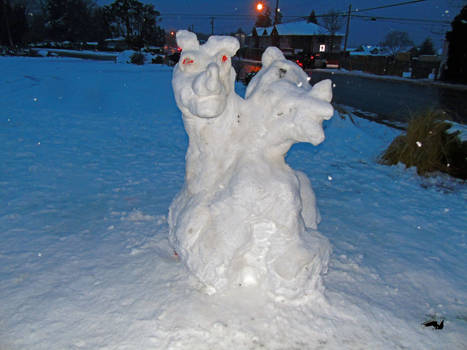 Two headed Snow Dragon