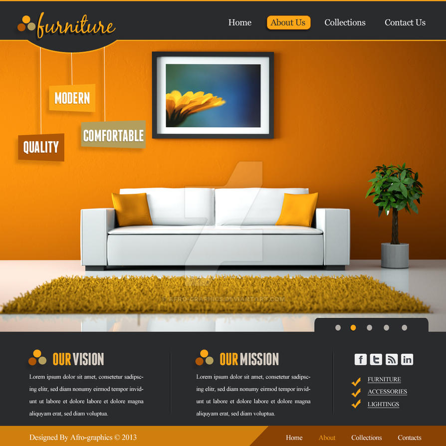 Furniture Website Design By Afro Graphics On Deviantart