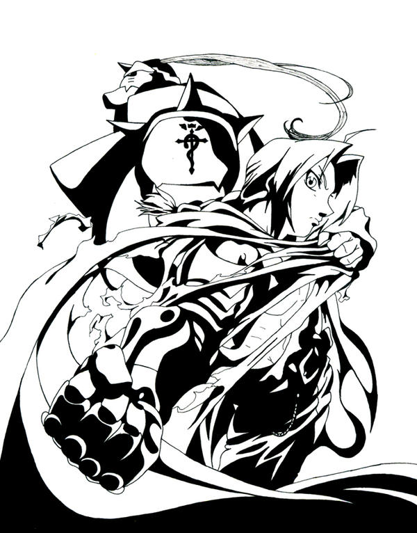 black and white _ Fullmetal by silversecrets