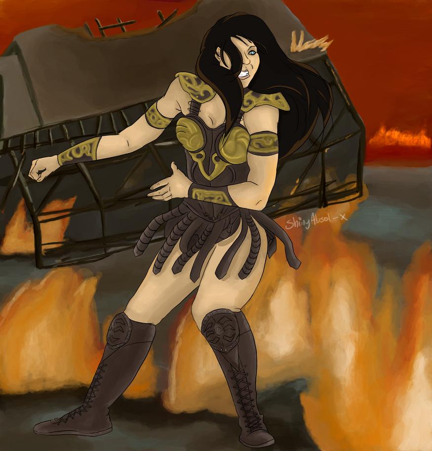 as the barn burns by ShinyAbsol-x