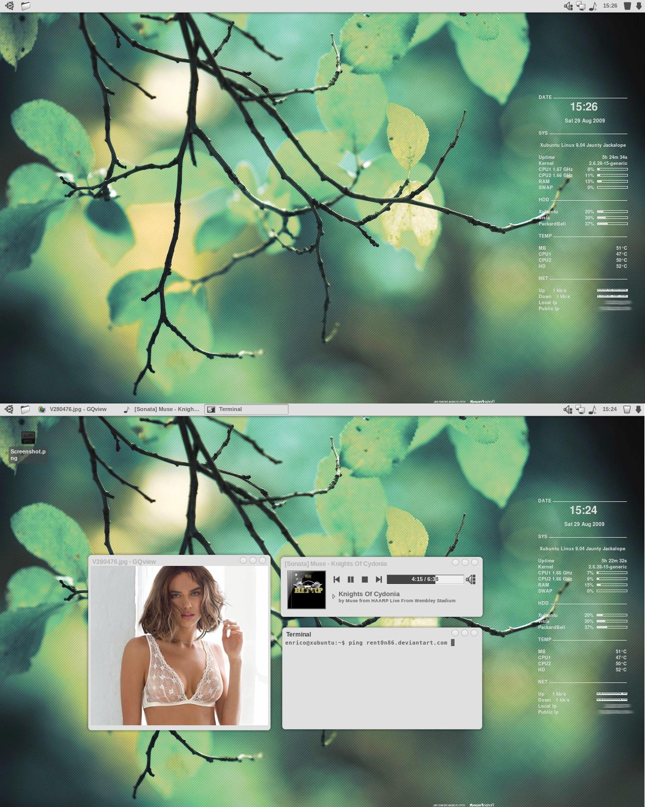 August 2009 Xfce Desktop by rent0n86