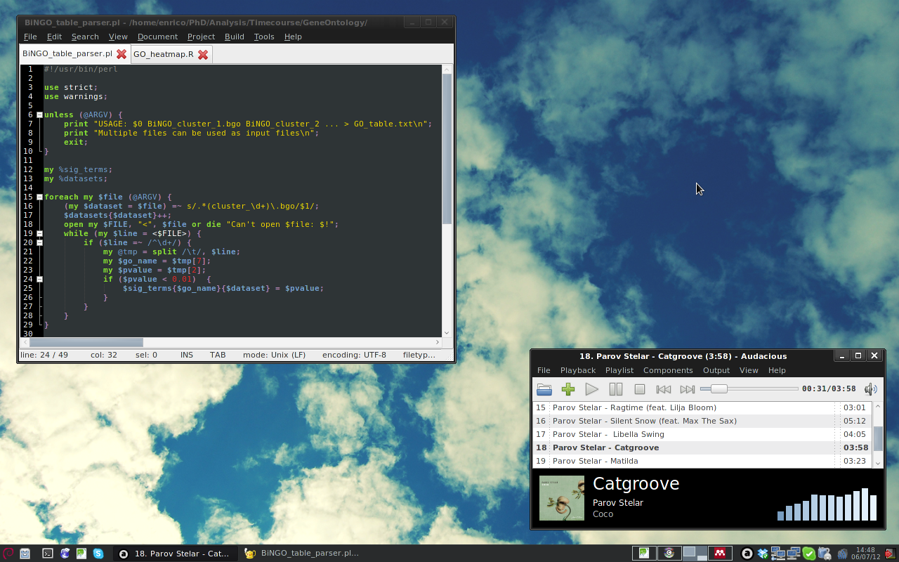 [Debian] [Xfce] Summer, work and music