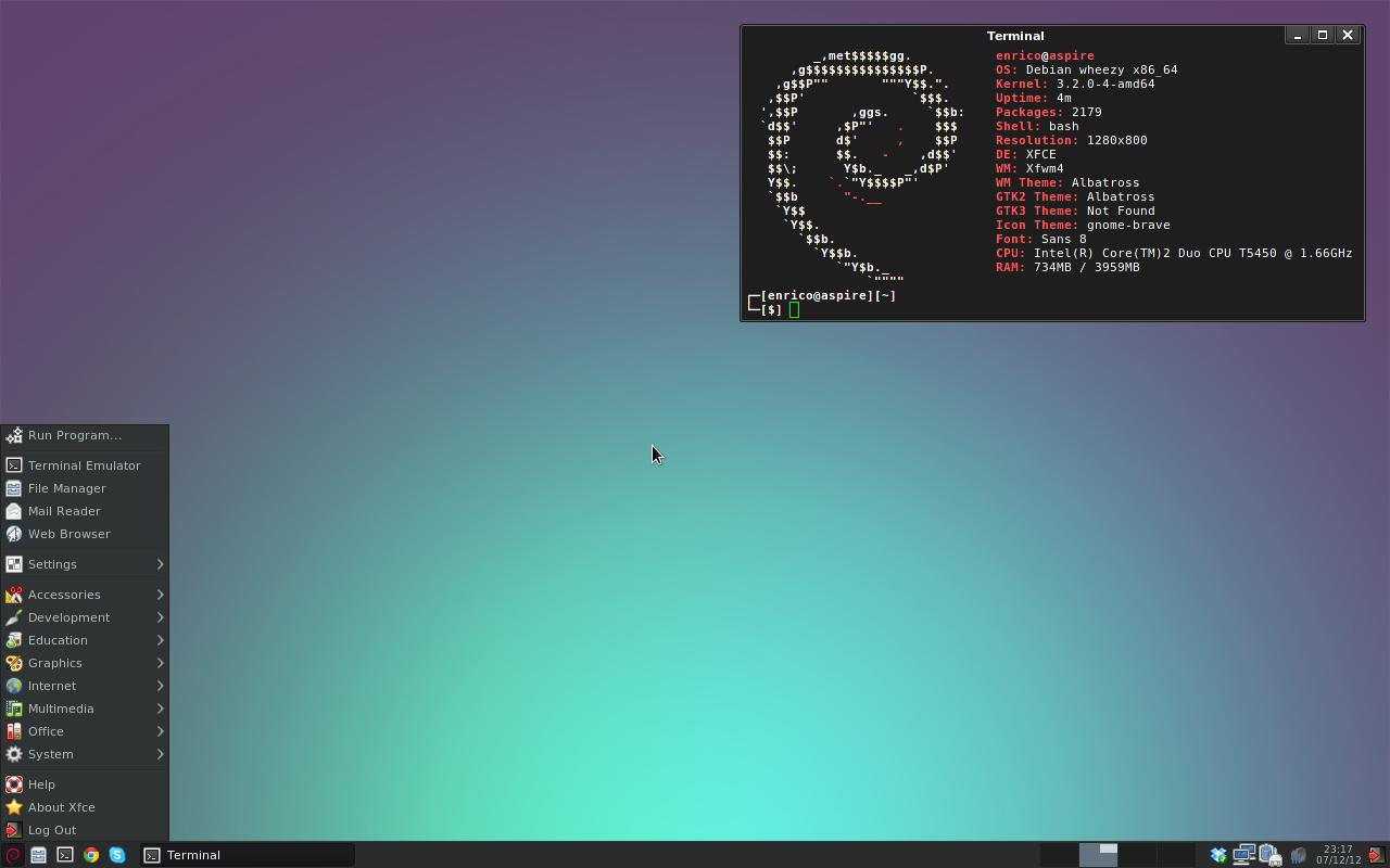[Debian] [Xfce] A very simple setup