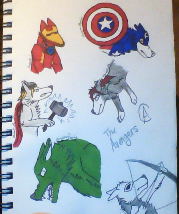 Commission #2 .:The Avengers:. by Wolf--Prime