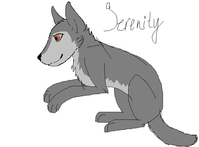 Serenity .:mspaint:. by Wolf--Prime